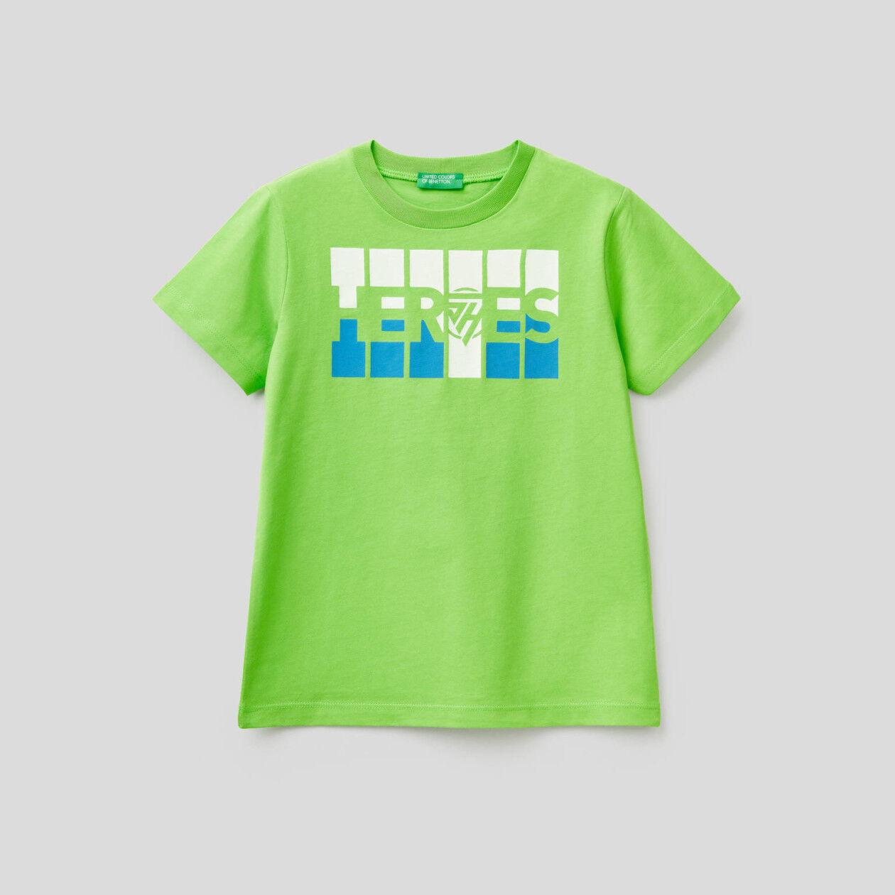 Maglietta in cotone con stampa