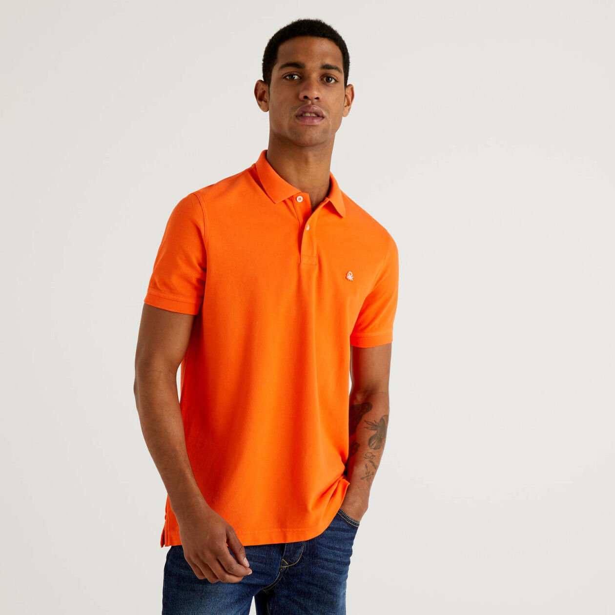 Polo regular fit arancione