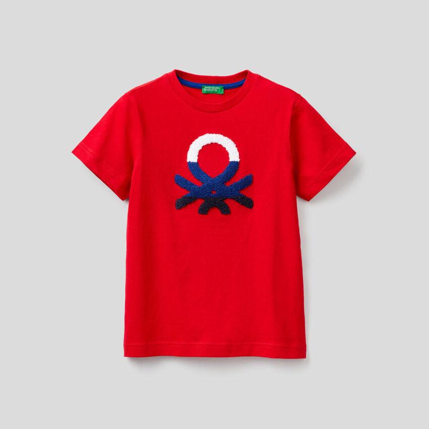 T-shirt 100% cotone con logo
