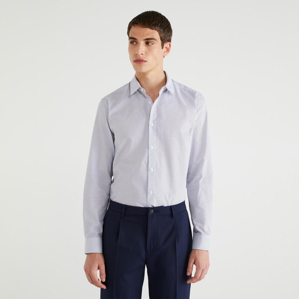 Camicia Oxford stampata