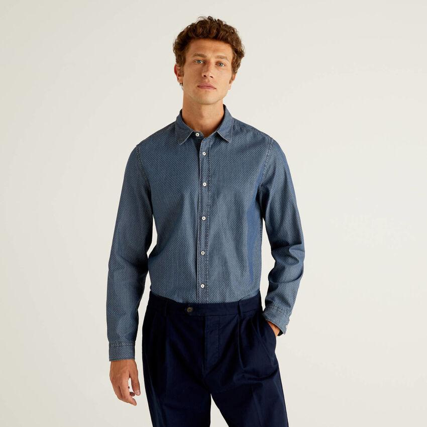 Camicia slim fit in 100% cotone