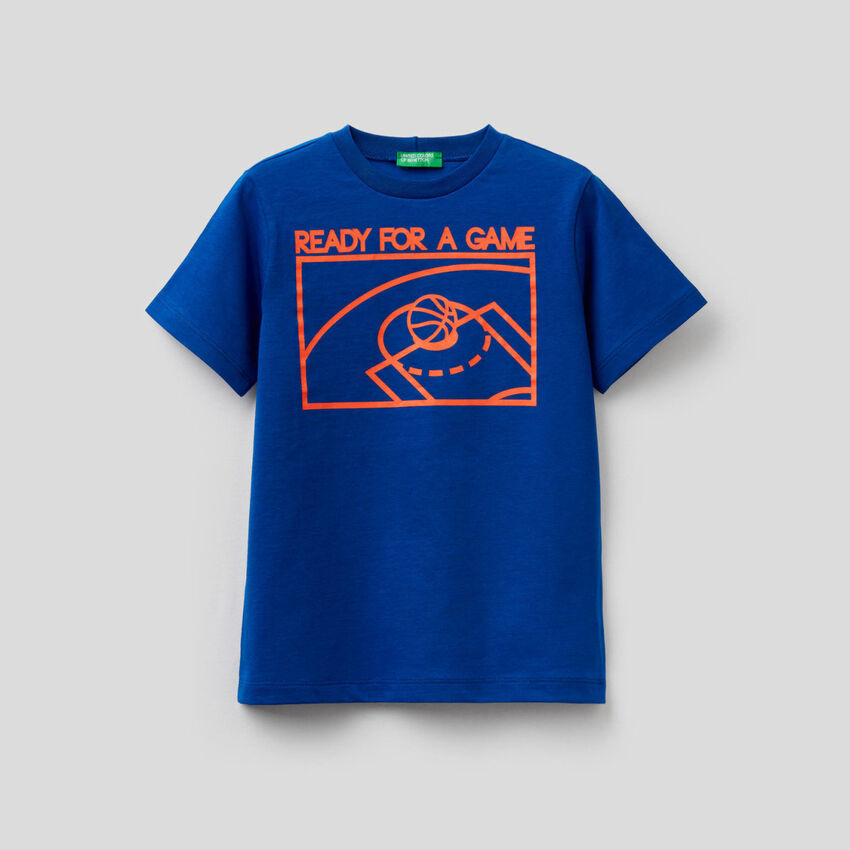 T-shirt in puro cotone con stampa