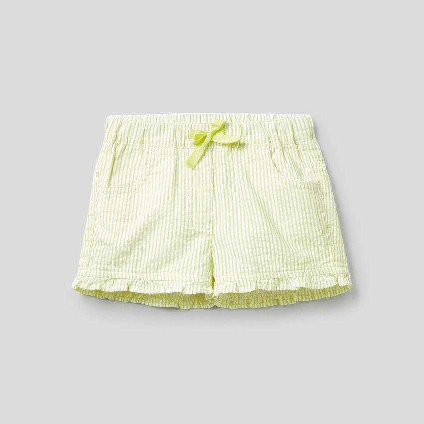 Shorts a righe gialle 100% cotone