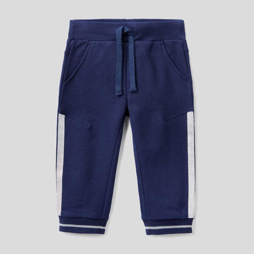 Pantaloni in felpa con dettagli lurex