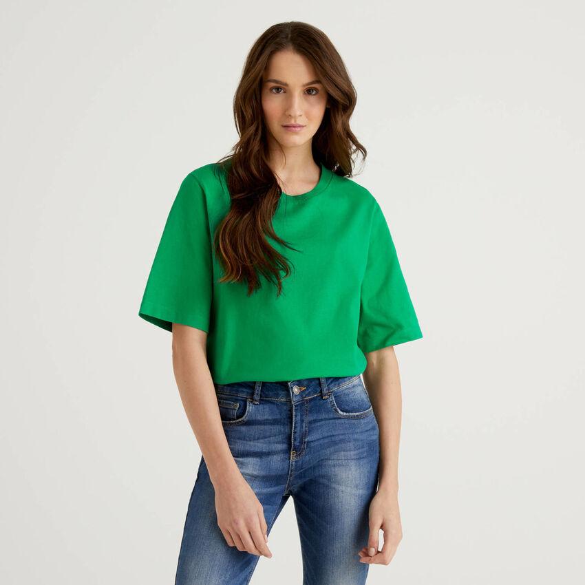 T-shirt boxy fit 100% cotone