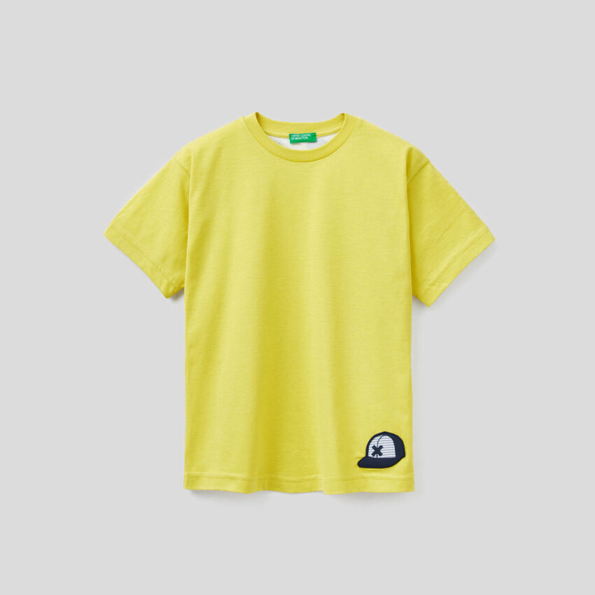 T-shirt in 100% cotone con slogan