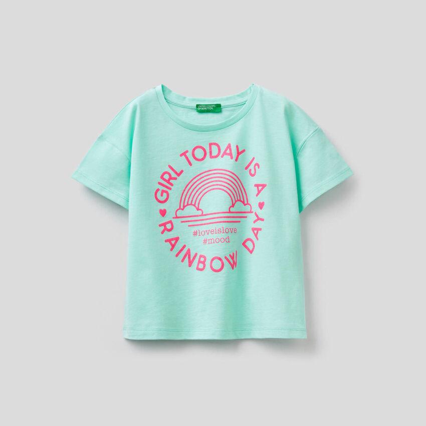 T-shirt boxy in puro cotone