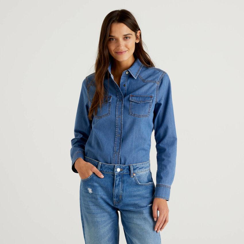 Camicia di jeans stile western