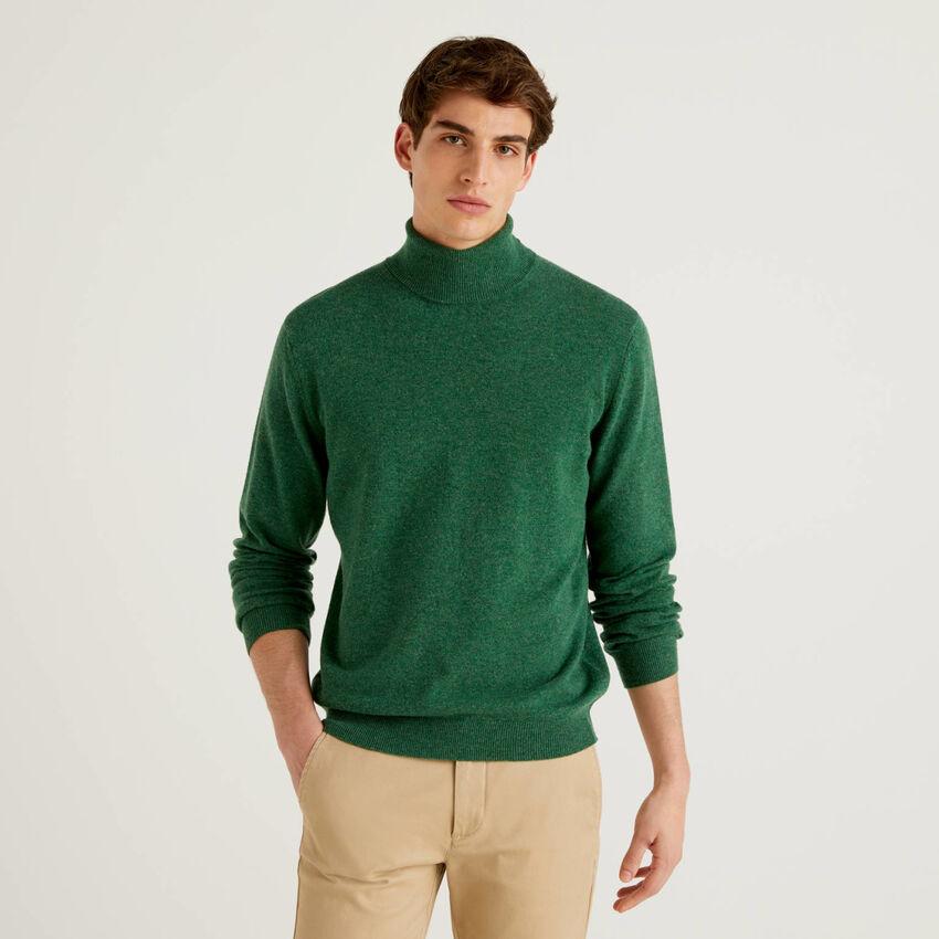 Dolcevita verde in pura lana vergine