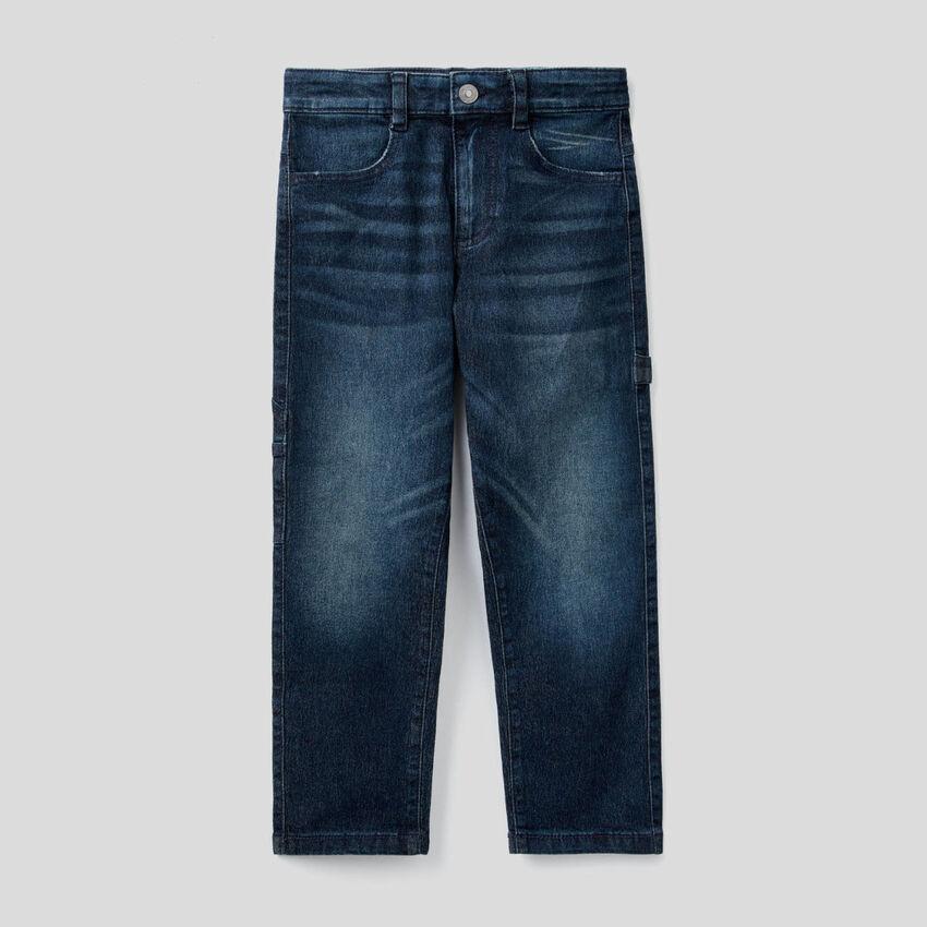 Jeans con dettagli stile workwear