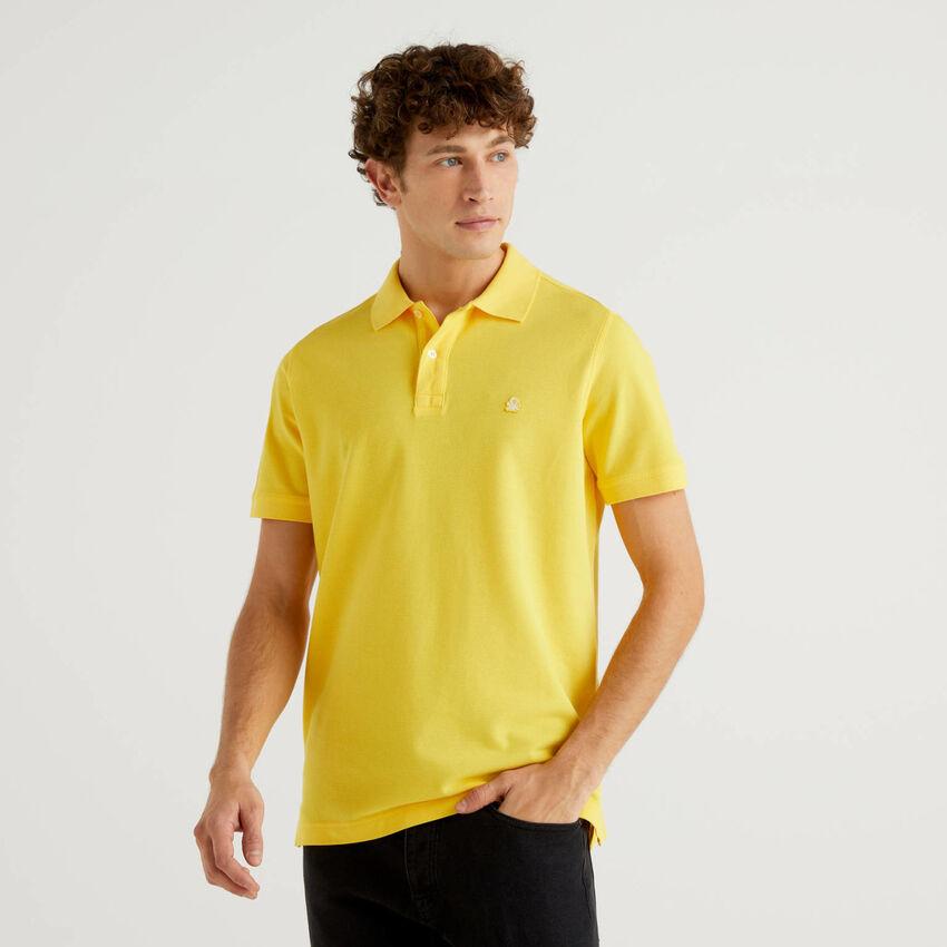 Polo regular fit gialla personalizzabile