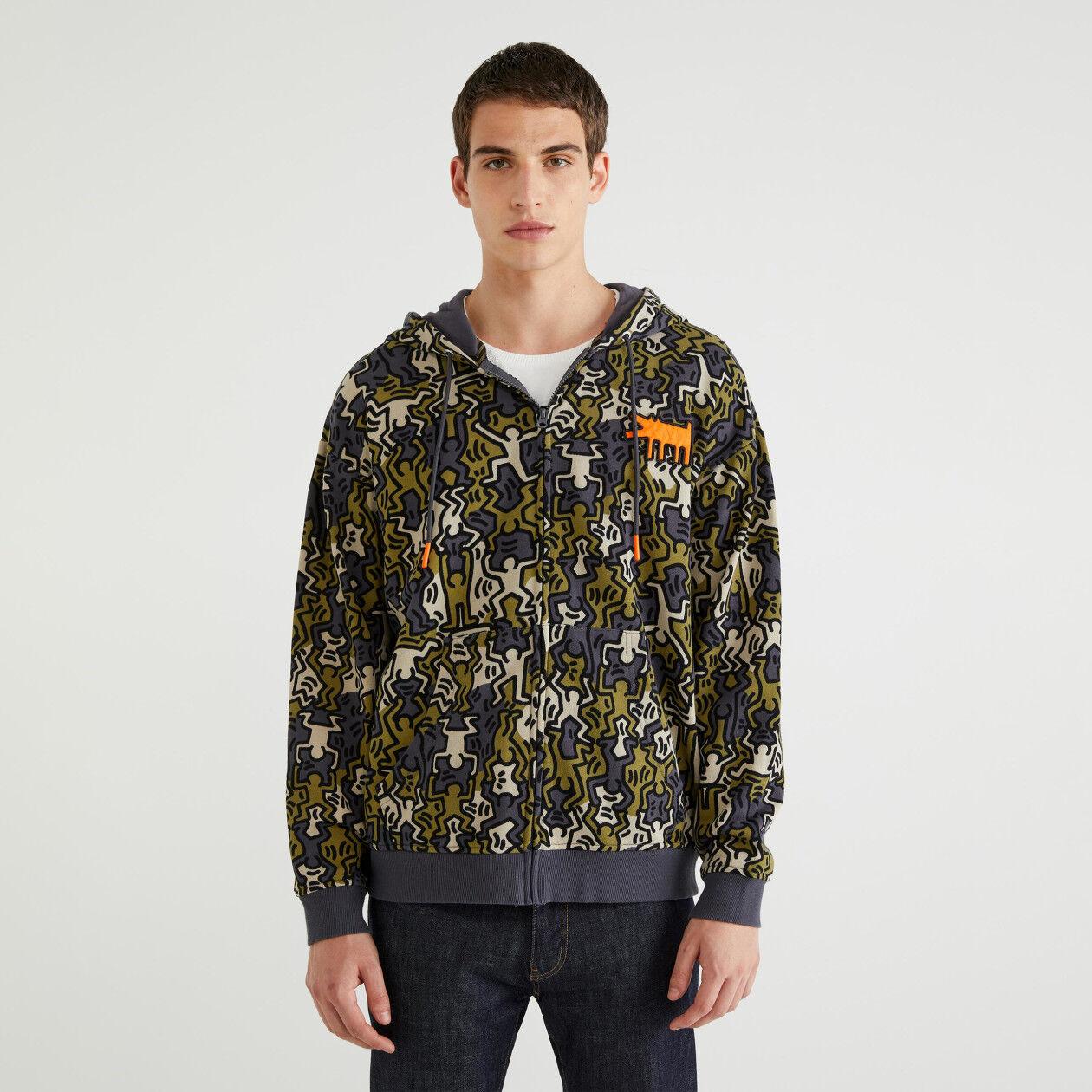 """Felpa stampata """"Keith Haring"""""""