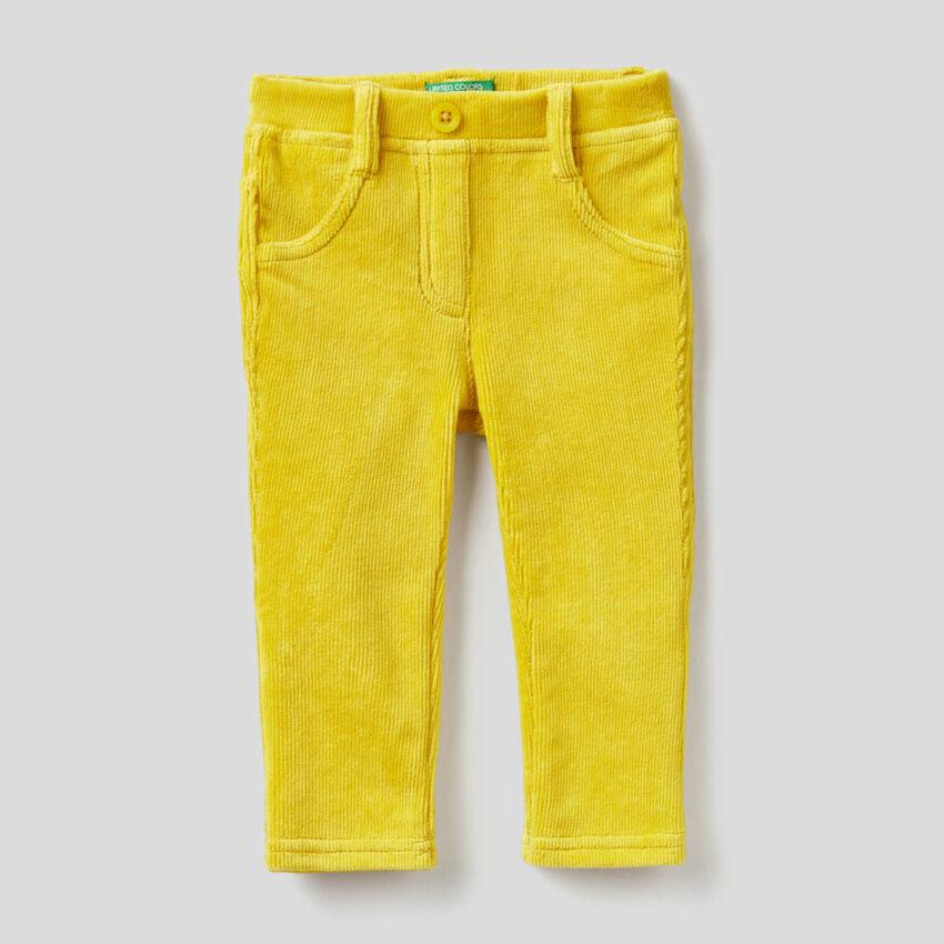 Pantaloni in ciniglia a costine