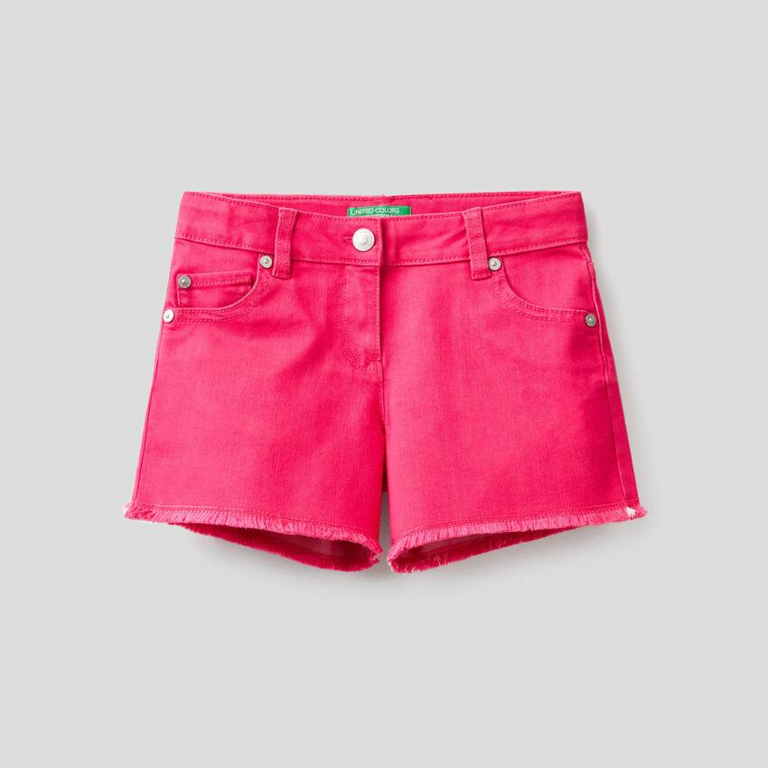 Shorts in misto cotone stretch