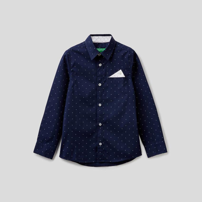Camicia 100% cotone con micro fantasia