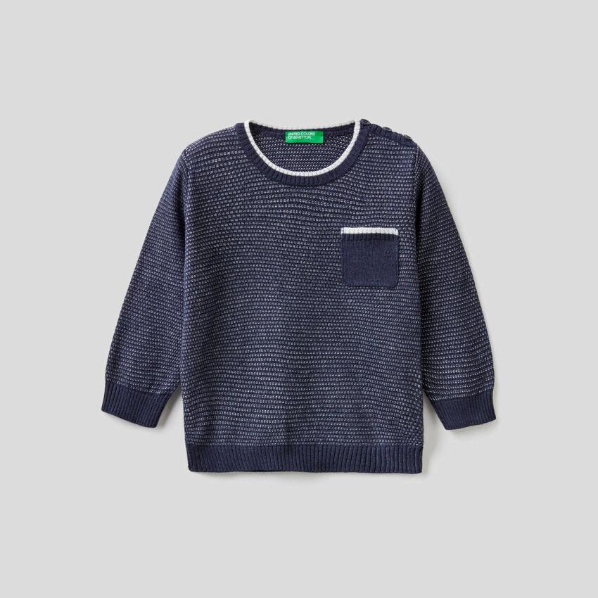 Maglioncino lavorato in misto lana