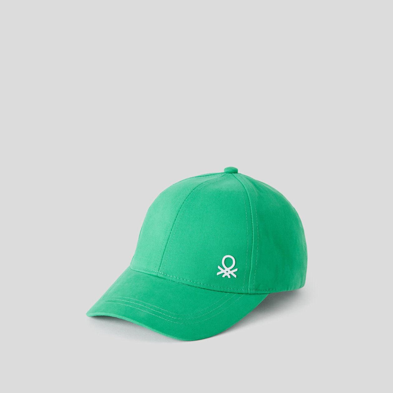 Cappellino in cotone con visiera