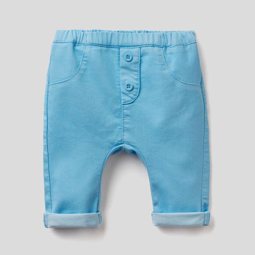 Pantaloni in misto cotone stretch