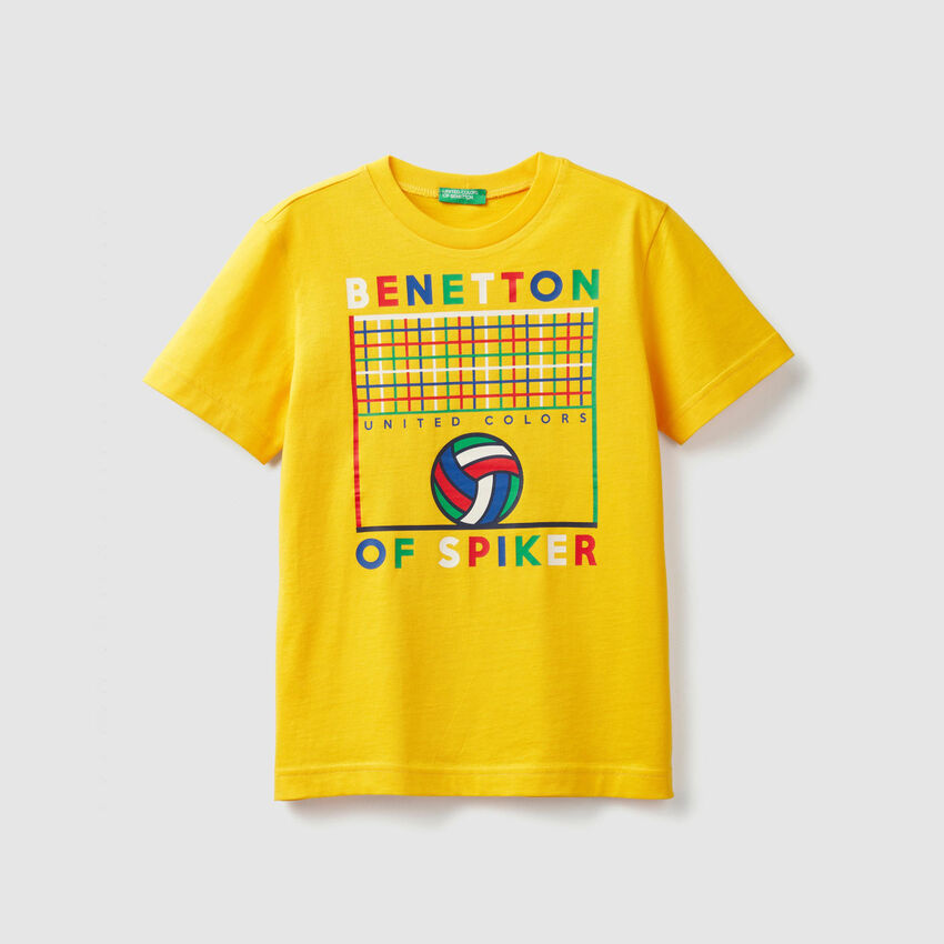 T-shirt con stampa sport
