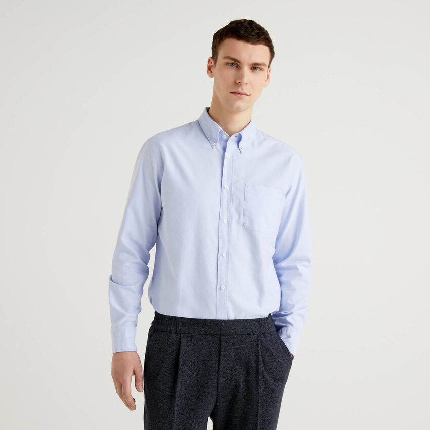 Camicia regular fit 100% cotone