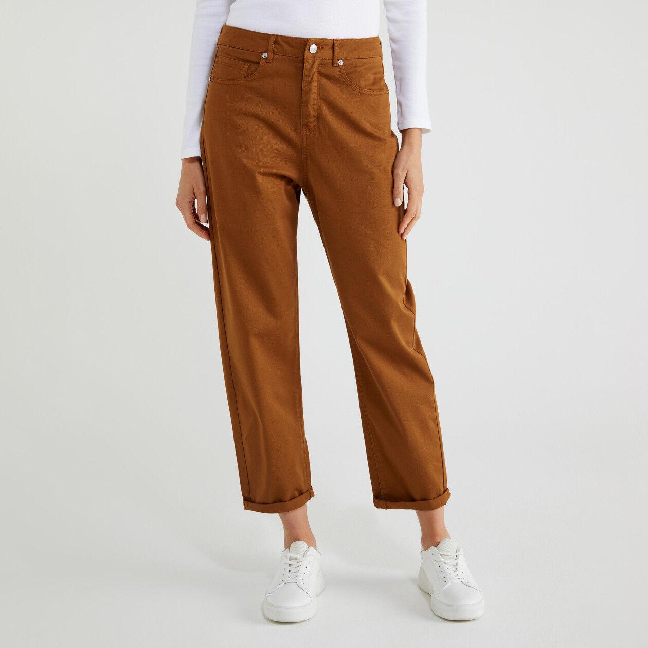 Pantaloni di cotone stretch