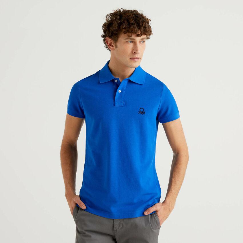 Polo slim fit bluette