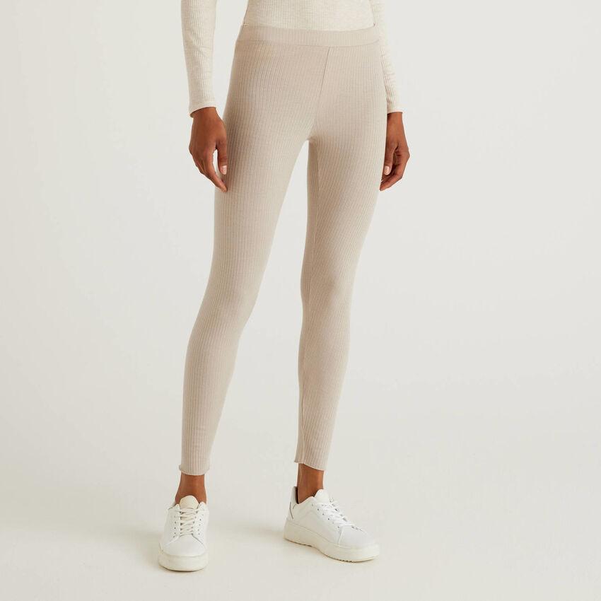 Leggings stretch in misto cashmere