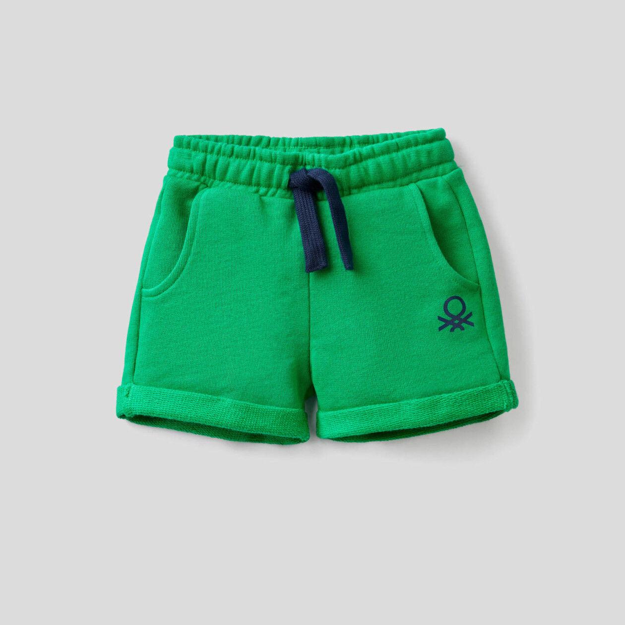 Pantaloni corti in felpa di 100% cotone