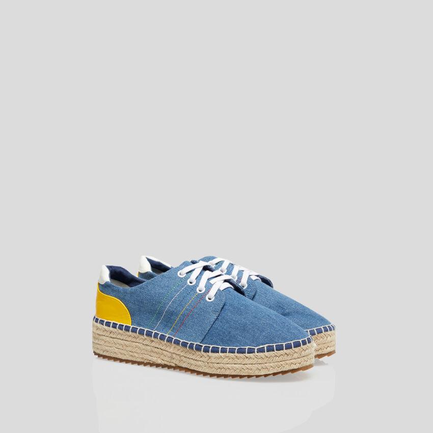 Sneakers con dettagli in corda