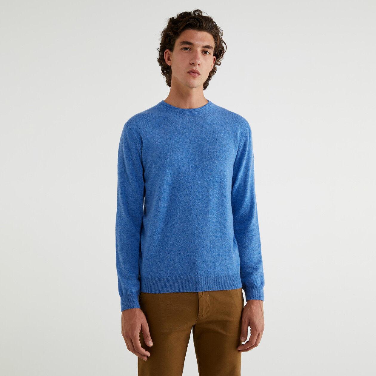 Maglia girocollo 100% lana vergine