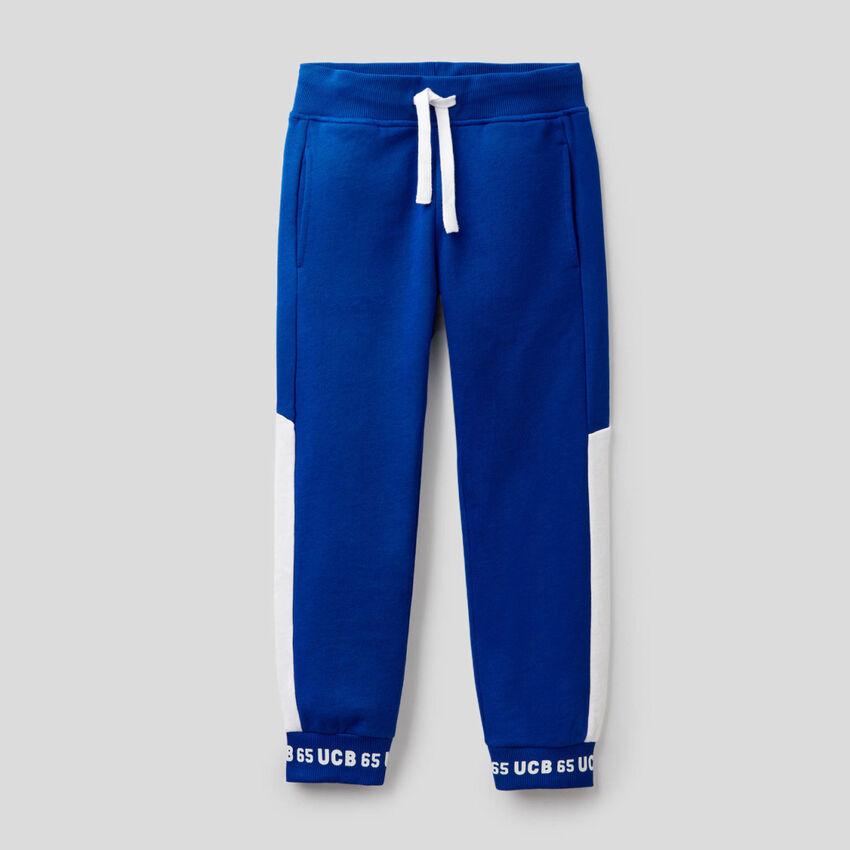 Pantaloni in felpa 100% cotone