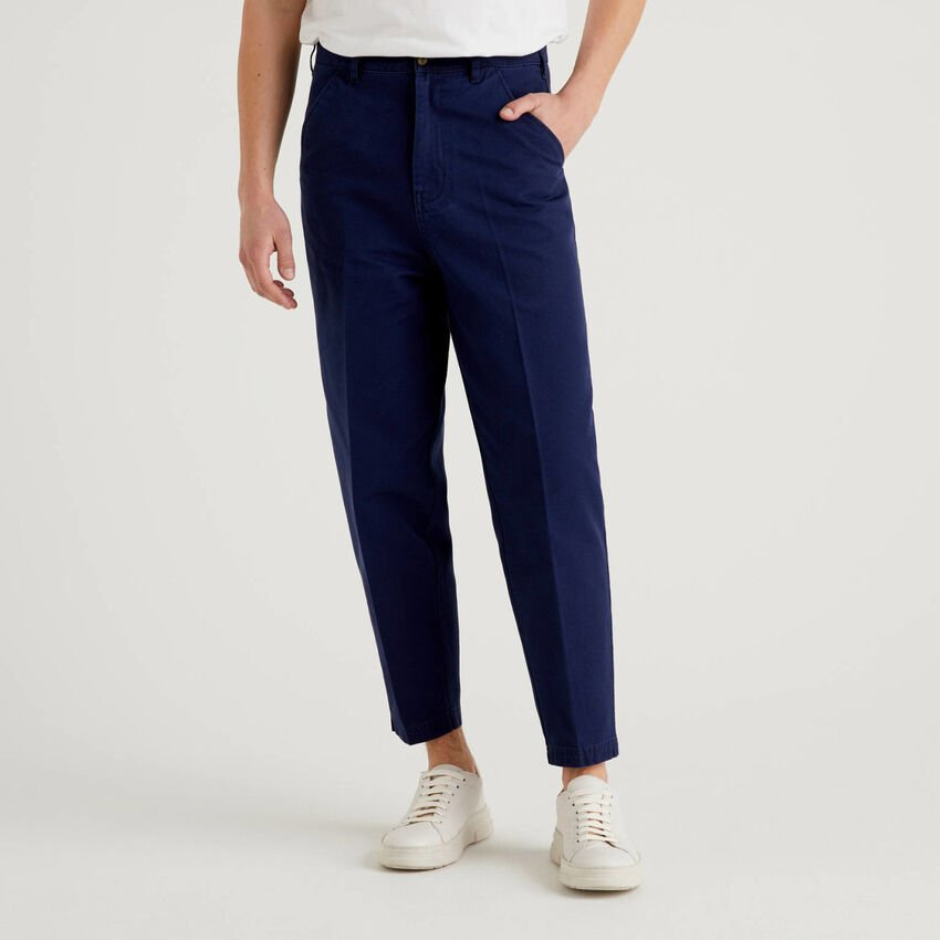 Chino cropped in 100% cotone