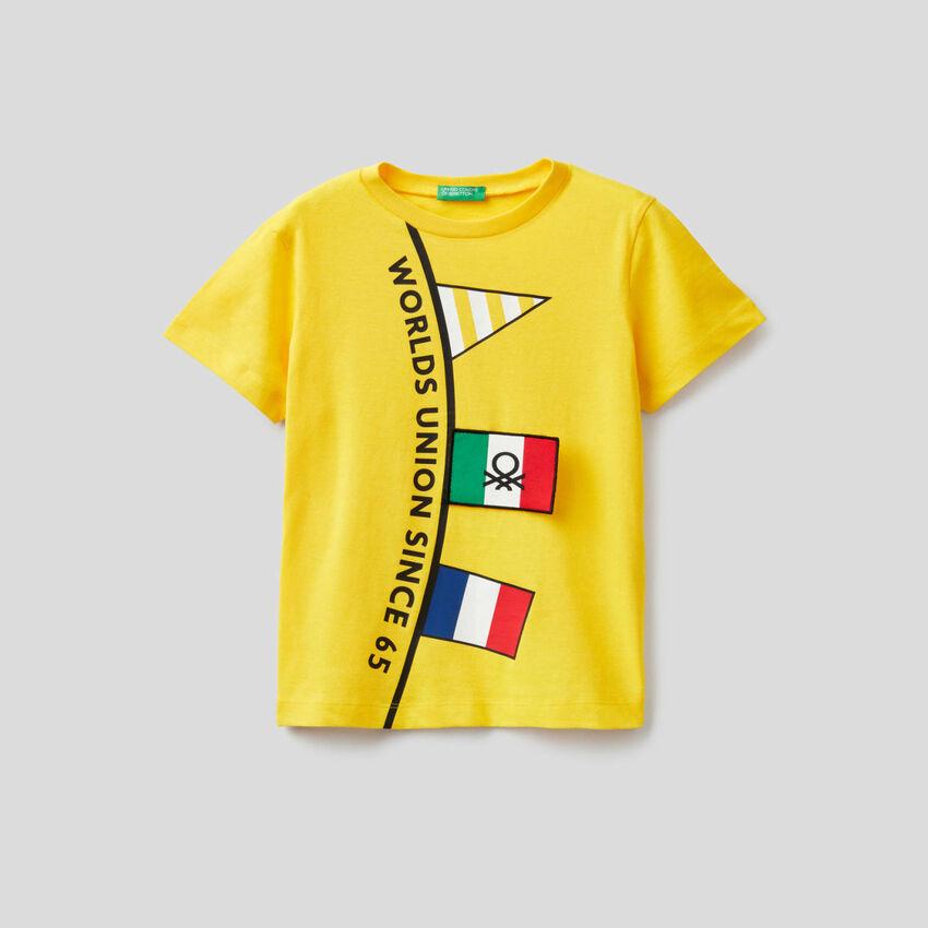 T-shirt in cotone a manica corta