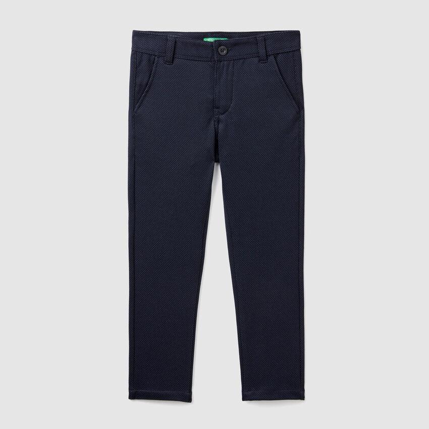 Pantaloni jacquard slim fit
