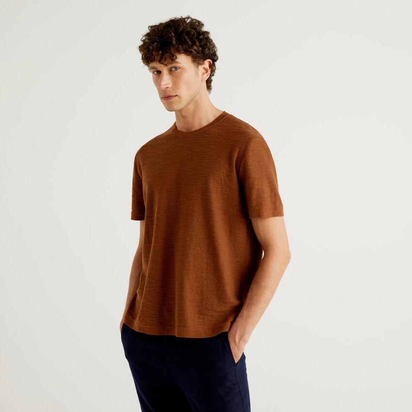 Maglia tricot in misto lino