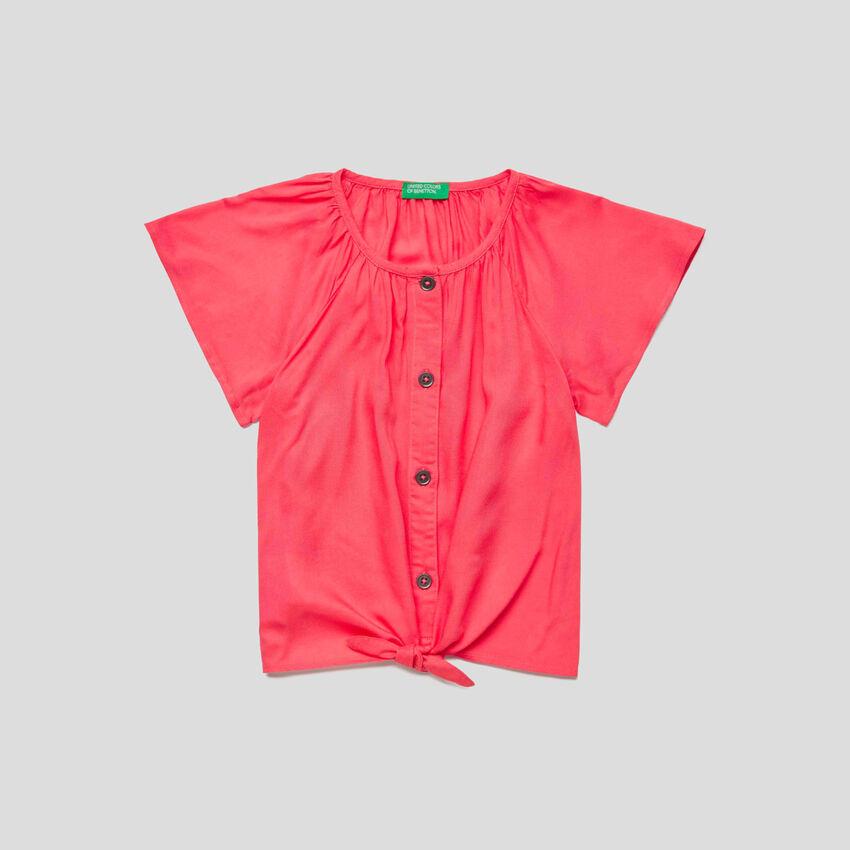 Camicia manica corta con lacci
