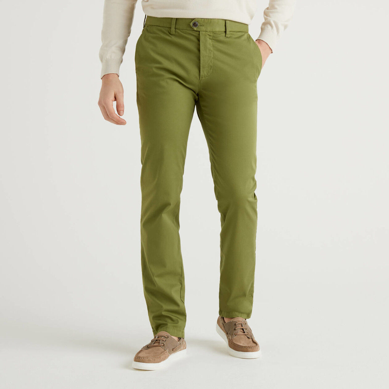 Chino stretch slim fit verde militare