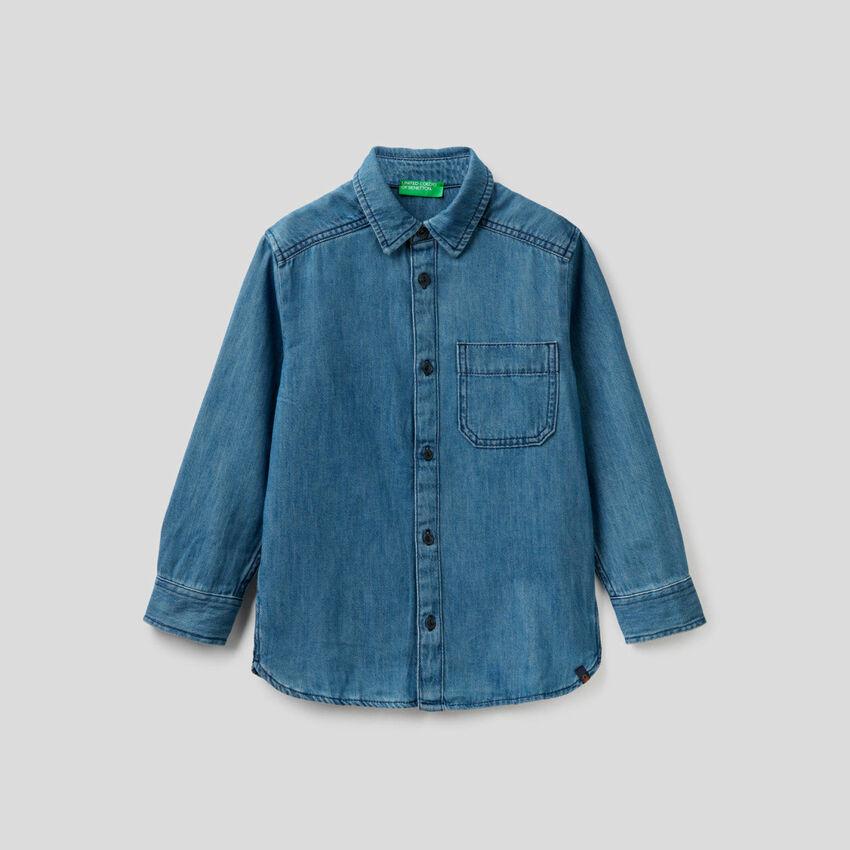 Camicia in jeans di 100% cotone