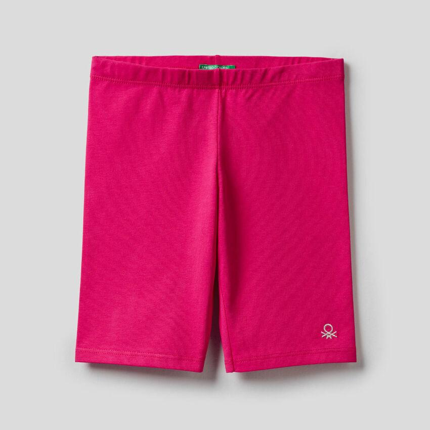 Pantaloni corti in cotone stretch