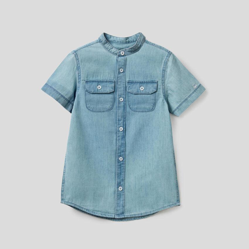 Camicia in denim 100% cotone