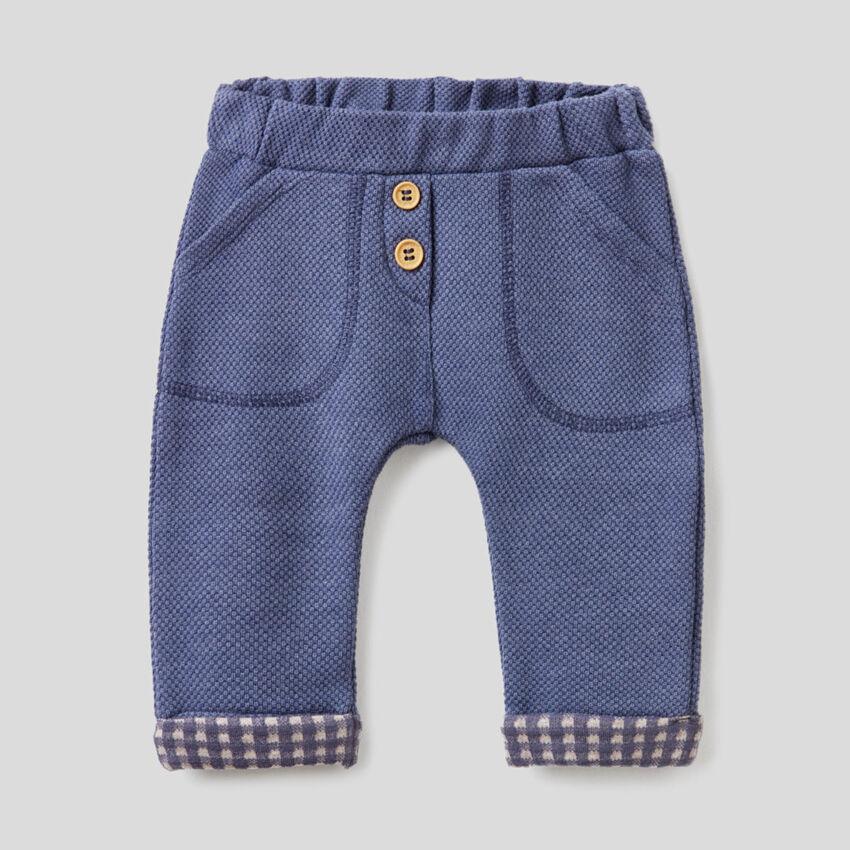 Pantaloni in tessuto piquet