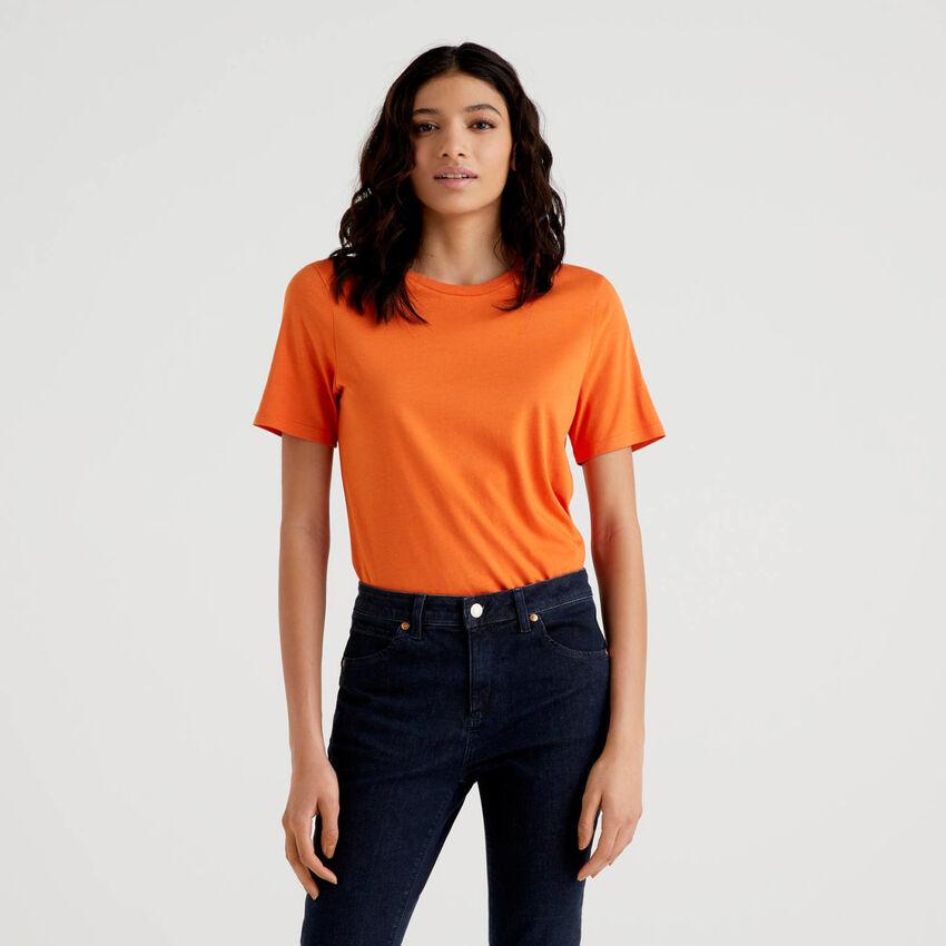 T-shirt girocollo tinta unita