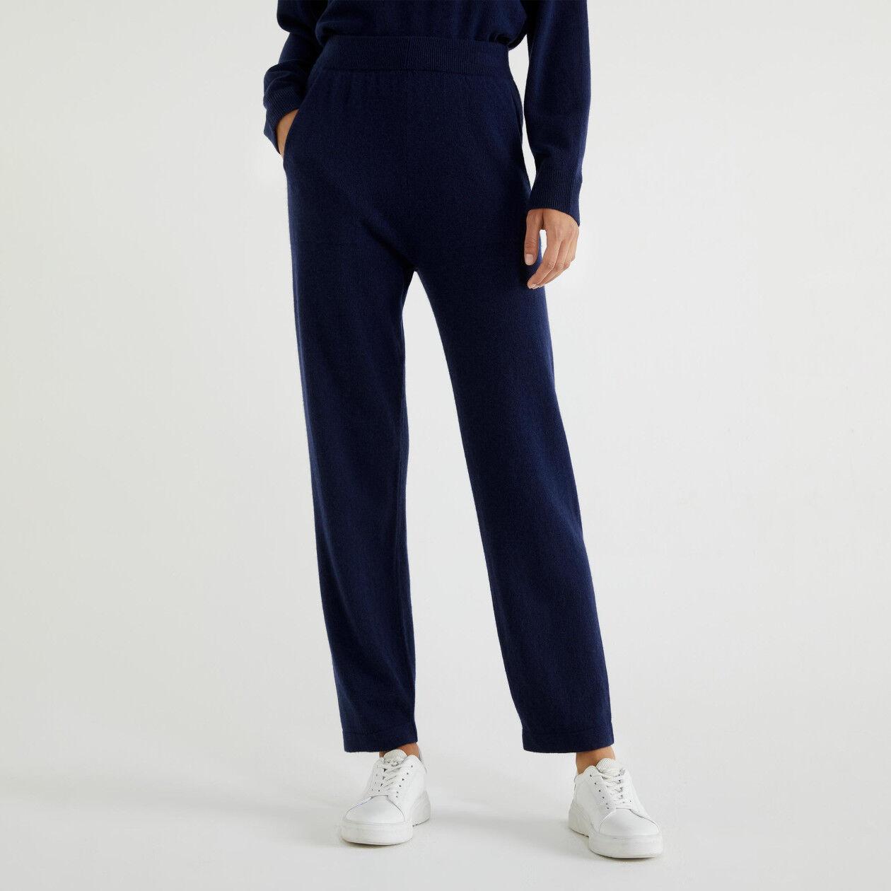 Pantaloni in cashmere e lana vergine