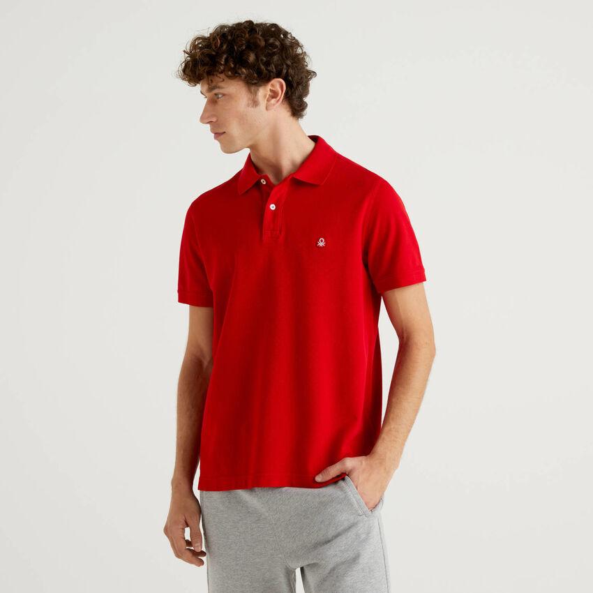 Polo regular fit rossa personalizzabile