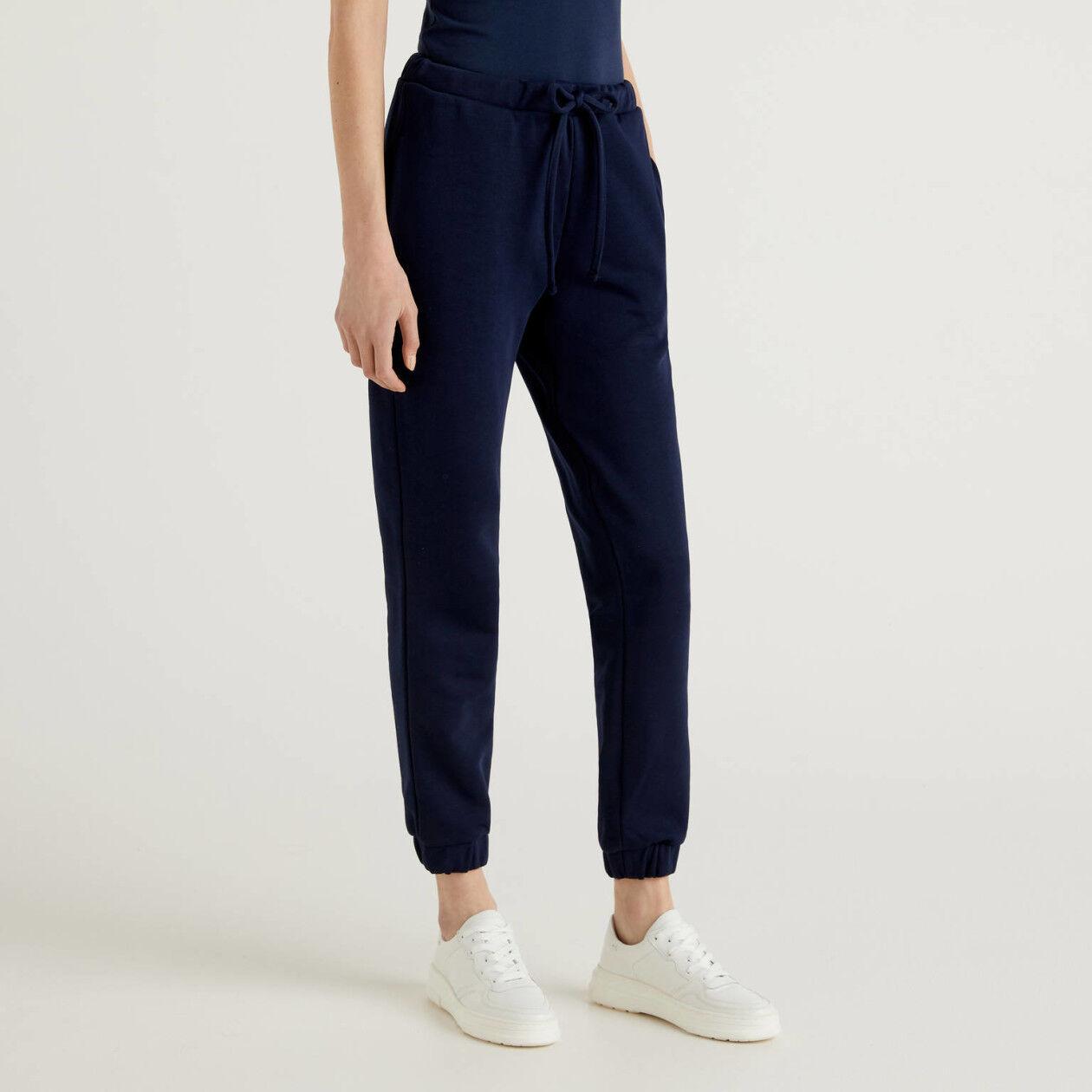 Pantaloni in felpa blu scuro