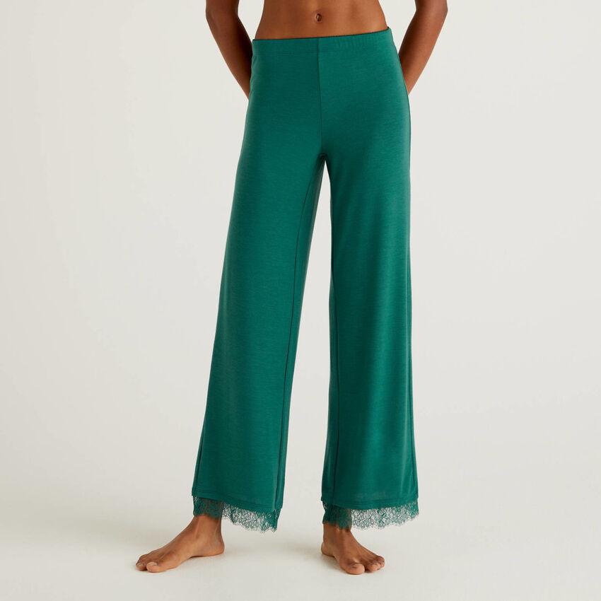 Pantaloni con dettaglio in pizzo