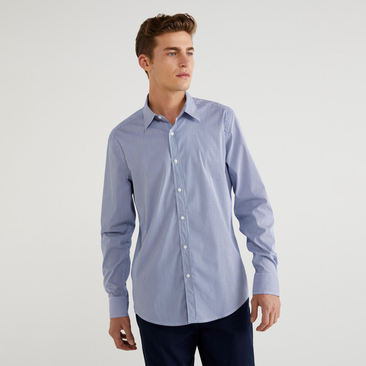 Camicia slim fit a righe