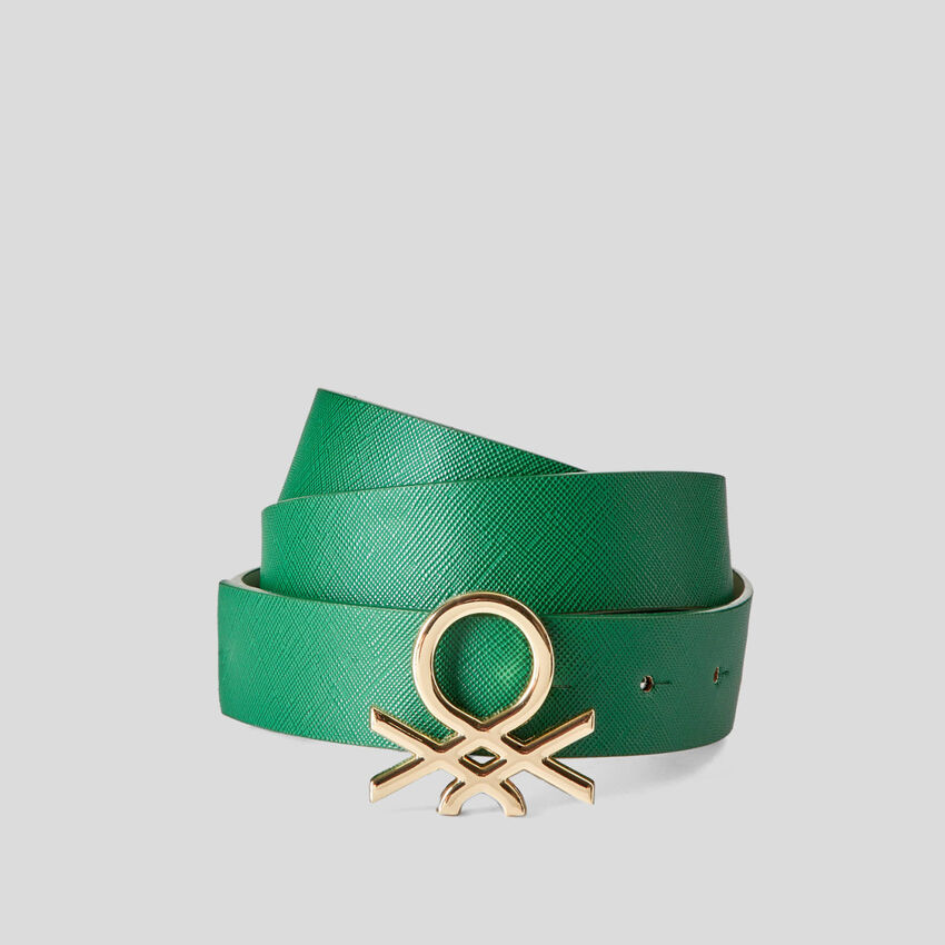Cintura con logo metallico