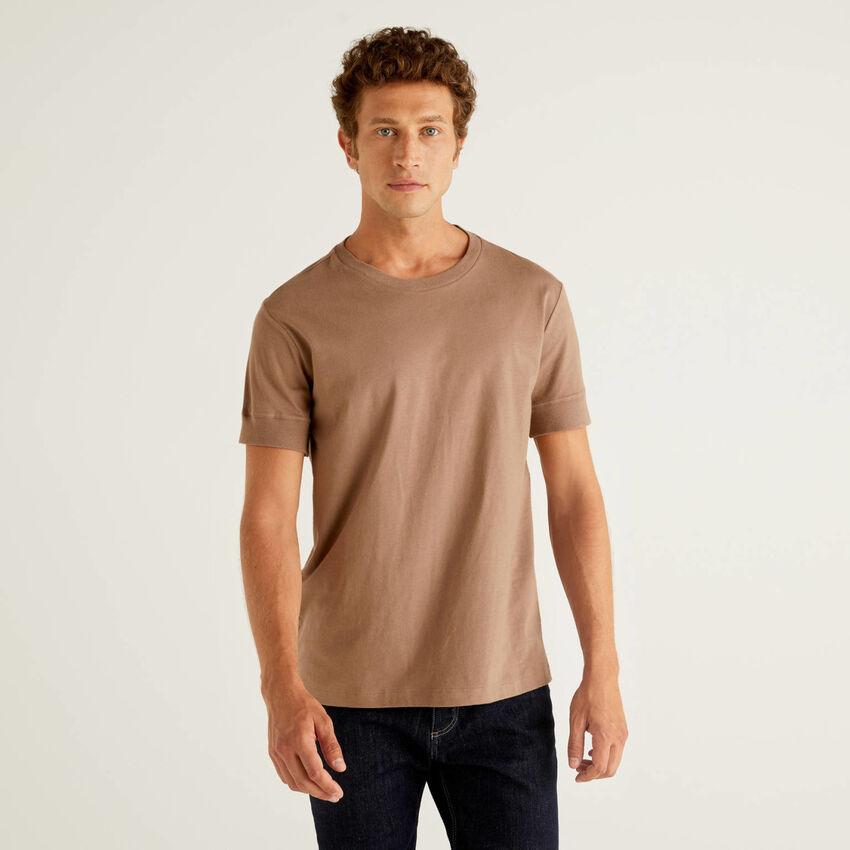 T-shirt tinta unita a manica corta