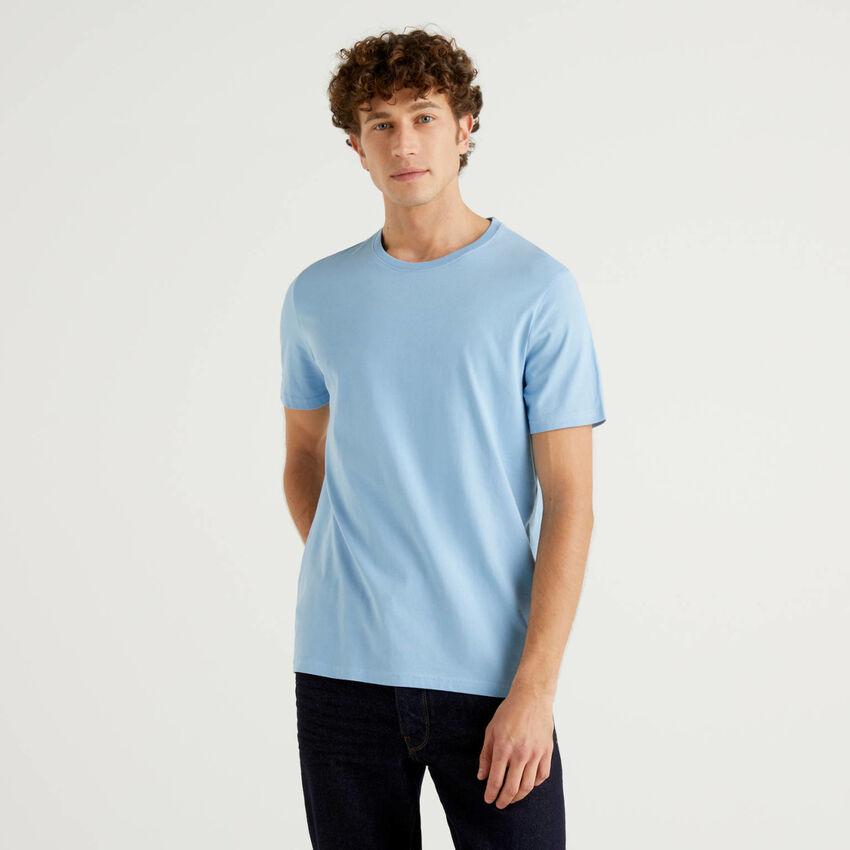 T-shirt celeste personalizzabile